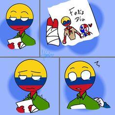 Colombia Country, Human Human, Mundo Comic, Country Art, Hetalia, Cringe, Memes, Chibi, Fan Art
