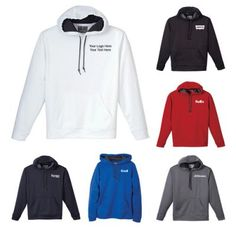 Custom Imprinted M Pasco Tech Hoodies features self fabric hem and sleeve cuffs. Lined with self fabric and secured with drawstring with metal tip .Available in several bold colors . #bestsellers #hoodies
