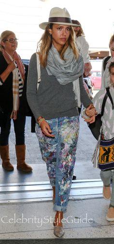 splatter paint jeans styling