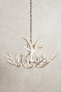 Faux Antler Chandelier For Home Decor Antler Lights, Antler Chandelier, Pendant Chandelier, Chandeliers, Driftwood Chandelier, Simple Chandelier, Unique Lighting, Home Lighting, Rustic Lighting