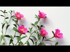 ABC TV | How To Make Portulaca Grandiflora Paper Flower From Crepe Paper...