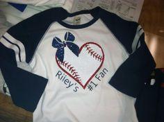 Super cute baseball Sister shirt-$20 each