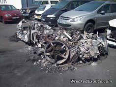 Ferrari 458 Italia crashed in France