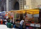 The Anglican Cathedral in Mexico City on market day