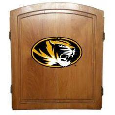 Missouri Tigers Mizzou Dart Board Cabinet Case