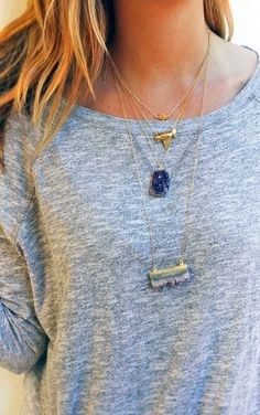 layer necklaces //