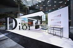 Doha dazzle: Qatar Duty Free unveils Maison de Parfum Pavilion by Dior - The Moodie Davitt Report Exhibition Stall, Exhibition Stand Design, Exhibition Display, Exhibition Room, Stand Feria, Expo Stand, Display Design, Kiosk Design, Environmental Design