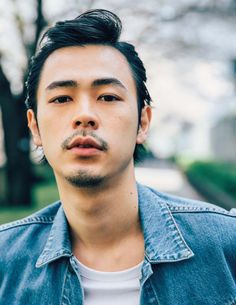 Japanese Men, Man Bun, My Boys, Hot Guys, Short Hair Styles, Hairstyle, Actors, Mens Fashion, Portrait