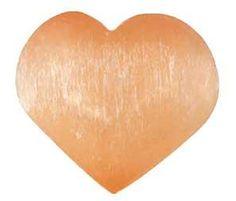 2 3-4 Orange Selenite Heart