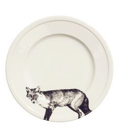 fox porcelain plate - love modern plates mixed into gallery walls