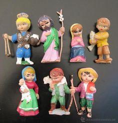 Jugar con las figuras del Belen de plastico, PECH HERMANOS