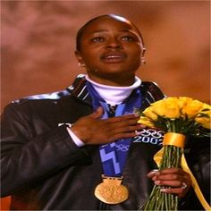 This day in 2002, Vonetta Flowers from Birmingham, AL became the first black gold medalist in the history of the Winter Olympic Games. Alongside her partner, Jill Brakken, Flowers won the inaugural women's two-person bobsled event at the Olympics.