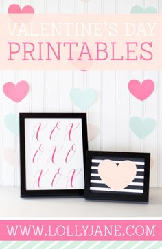 FREE Valentine printable. Valentine's Day decor.