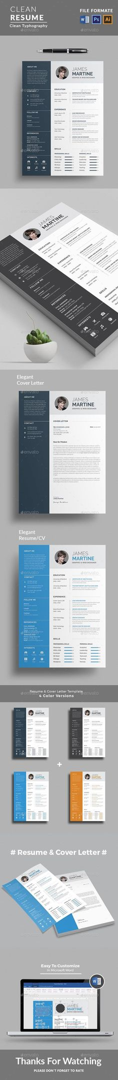 """This is Resume Templates . """" Resume Templates """" is the super clean,The flexible page designs are easy to use and customize, modern and professional Resume templates to help you land that great job, you a need a great resume. Download here: https://graphicriver.net/item/resume/19276022?ref=classicdesignp"""