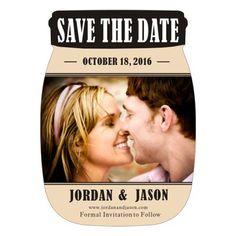 Save the date mason jar photo