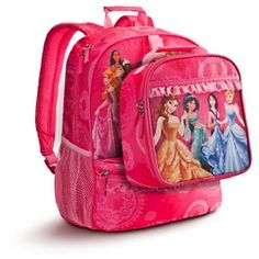 Pink disney princess backpack and lunchbox!