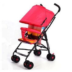 79.80$  Buy here - http://ali6hc.worldwells.pw/go.php?t=32726732656 - Baby stroller baby bb portable ultra-light child trolley suspension folding umbrella car  Can only sit 79.80$