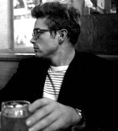 James Dean In A Breton Top And Blazer Combination