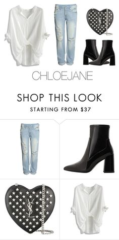 """"""""""" by chloeeej ❤ liked on Polyvore featuring H&M, MANGO, Yves Saint Laurent and Chicwish"""