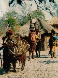 Mukanda circumcision camps in Zambia, Angola and Congo.