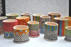 Colorful Bud vase/ sponge holder/ cell-phone by chARiTyelise