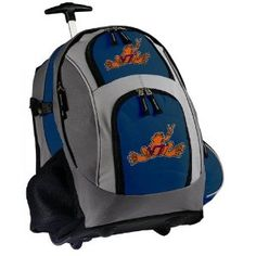Virginia Tech Peace Frog Rolling Backpack Deluxe Navy - Backpacks Bags with Wheels or School Trolley Carry-On Suitcase Bags - Unique Gifts (Apparel)  http://www.99homedecors.com/decors.php?p=B005GWHVNG  B005GWHVNG