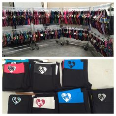 """HUNDREDS of leos on sale for $25 or less this weekend at level 8, 9, 10 so cal state championships in long beach! Also 30% off ALL yoga pants including these brand new """"love"""" ones! See you there! 