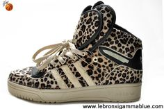 Buy New Adidas Attitude Logo Double Heart Tongue Leopard Shoes