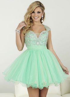Mint Green Homecoming Dresses, Rhinestone Homecoming Dresses, Organza Homecoming Dresses, Homecoming Dresses, Juniors Homecoming Dresses, Cheap Homecoming Dresses, PD0723