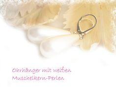 Ohrringe Perlen weiß versilbert von DeineSchmuckFreundin - Schmuck und Accessoires auf DaWanda.com