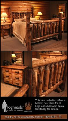 Love this collection of bed frame, night stand, chest and mirror for my dream home in the mountains!