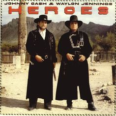 Johnny Cash & Waylon Jennings  -  'HEROES'                  knickknackrecords.com