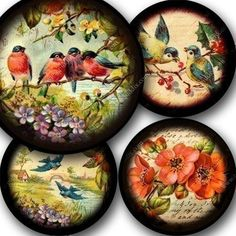 Original, printable collages sized for pocket mirrors, buttons, jewelry and tags. CD by piddix.: