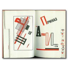 """Pages from """"Order for the Army of the Arts,"""" Dlia golosa [For the Voice] by Vladimir Mayakovsky, Designed by El Lissitzky (Russian, Russian Fonts, Russian Art, Bauhaus, Poema Visual, Vladimir Mayakovsky, Russian Constructivism, Buch Design, Lectures, Modern Graphic Design"""