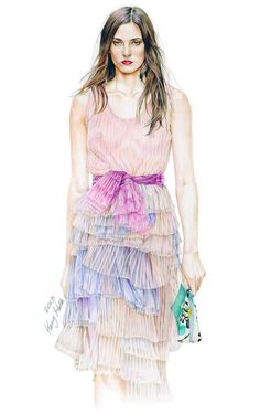 // Burberry Prosum 2015 S/S Collection Fashion Illustration by Halla Kang
