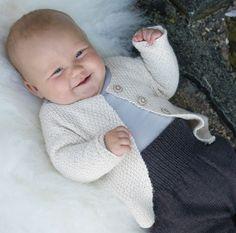 Perlejakke - Baby 0-1 år - Materialpakker - Design by Marte Helgetun