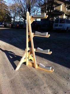 Quadruple Cedar Kayak Rack