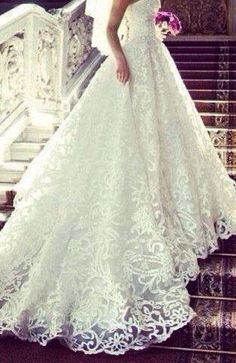 Fabulous Wedding dresses, gowns and Bridal Shop in Istanbul. Elegant Wedding Dress, Dream Wedding Dresses, Wedding Gowns, Wedding White, Wedding Skirt, White Weddings, Romantic Lace, White Bridal, Lace Weddings