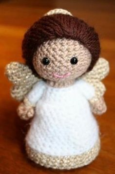Turn this into A Weeping Angel by using all grey/gray yarn!