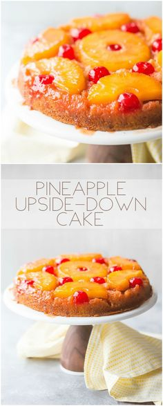 Absolutely OUTRAGEOUS Pineapple Upside Down Cake!  So moist and the flavor was off-the-charts.  Simple to make, completely from scratch #pineappleupsidedown #cake #pineapple #upsidedown #easy #recipe #fromscratch #homemade #best #fresh #oldfashioned #moist #topping #round #simple #glaze #southern #decorated via @bakingamoment