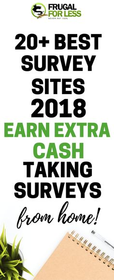 Learn how to make the most money with this awesome list of 20+ survey sites to make extra cash from home | #workfromhome #surveysonline #makemoneysurveys #workfromhomeonline | frugalforless.com
