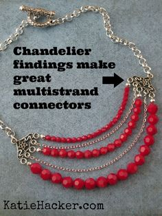 I love using chandelier findings as multi-strand connectors. @Beadalon JSKIT0343A (scheduled via http://www.tailwindapp.com?utm_source=pinterest&utm_medium=twpin&utm_content=post54994176&utm_campaign=scheduler_attribution)