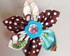 Items similar to Dog Collar & Flower Set - Plum Dahlia - plum, purple and black dog collar and flower on Etsy
