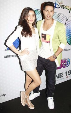 Varun Dhawan and Shraddha Kapoor at the trailer launch of 'ABCD 2'. #Bollywood #Fashion #Style #Beauty #Handsome #ABCD2