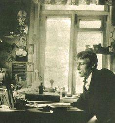 Mikhail Bulgakov at his desk
