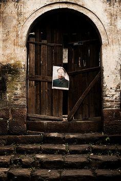 Mao on the door. China