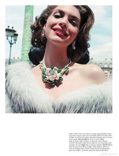 """Arizona Muse in """"Les feux de la ville"""" by Inez & Vinoodh for Vogue Paris October 2011"""