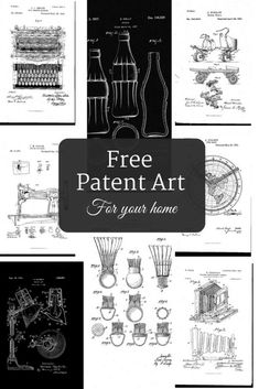 How To Make Free Printable Patent Art - Picture Box Blue Art Pictures, Art Images, Patent Search, Free Patent, Free Printable Art, Free Poster Printables, Ephemera Printables Free, Free Printables For Home, Blueprint Art