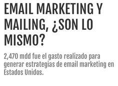 Email marketing y mailing, ¿son lo mismo o no? Hacer envíos de correos electrónicos, sin tener un plan estratégico ni objetivos bien delimitados, no es sinónimo de una campaña de email marketing, pero tampoco se asemeja al mailing.  Ambos conceptos podrían entenderse como términos y estrategias iguales pero, aun con un nombre similar, no son lo mismo.