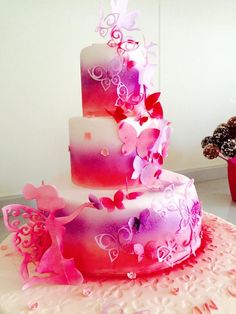 fairies cake made using wafer paper